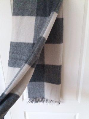 COS - Schal - Wolle - grau/weiß