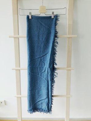 COS Sciarpa di lana blu acciaio