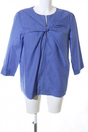 COS Slip-over Blouse blue-white graphic pattern business style