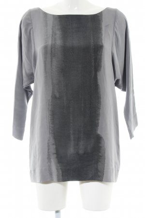 COS Slip-over blouse lichtgrijs abstract patroon casual uitstraling