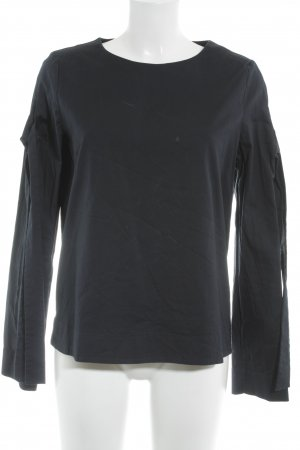 COS Slip-over Blouse dark blue classic style