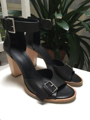 COS High Heel Sandal black leather