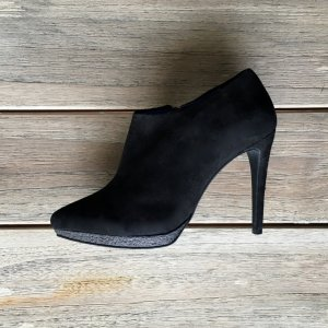 COS Platform Booties black leather