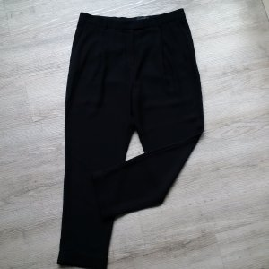 COS Schwarze Tailored Cropped Hose || Fliessender Stoff || Bundfalten