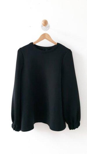 COS Schwarzer Neopren Pullover