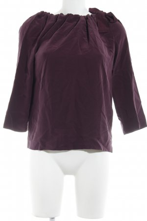 COS Seidenbluse purpur minimalistischer Stil