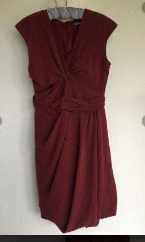 COS Sheath Dress carmine silk