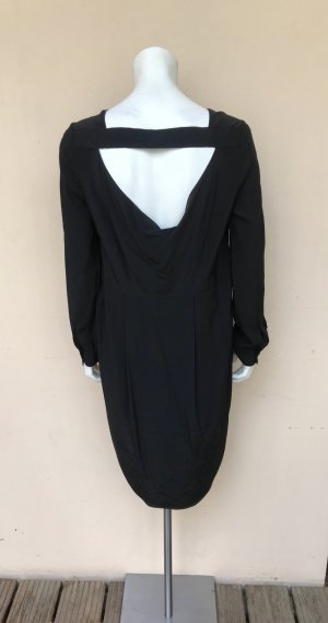 COS Vestido cut out negro Seda