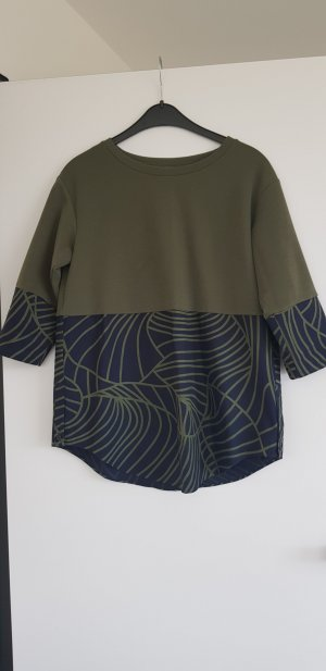 COS Oversized shirt donkerblauw-khaki