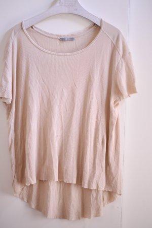 cos Shirt beige gestreift weicher Stoff 34 36 xs s t-shirt