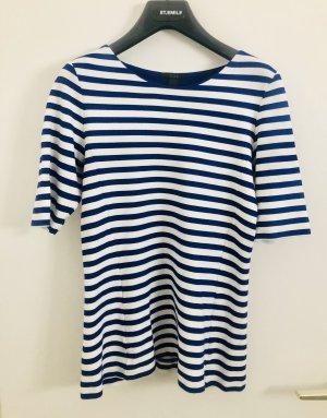 COS Gestreept shirt wit-blauw