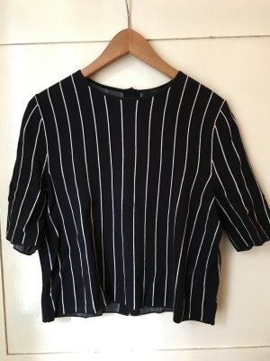 COS Gestreept shirt donkerblauw-wit