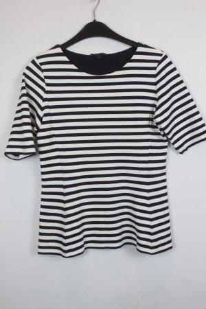 COS Camisa de rayas azul oscuro-blanco puro Viscosa