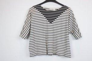 COS Cropped shirt zwart-wit