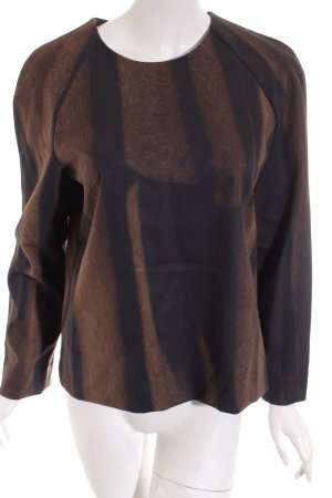 COS Shirt hellbraun-schwarz abstraktes Muster minimalistischer Stil