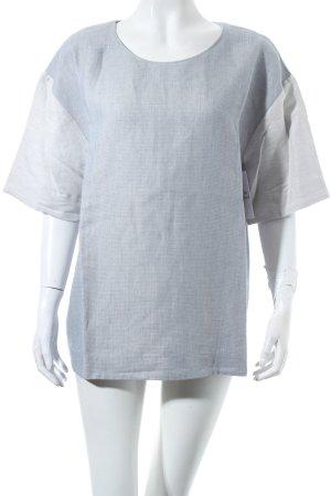 COS Shirt himmelblau-hellblau Webmuster klassischer Stil