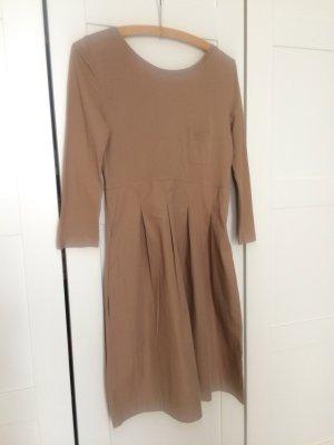 COS Shirt Kleid beige camel cognac top