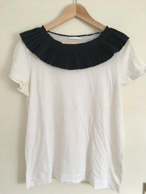 COS Shirt mit plissiertem Kragen Gr. M