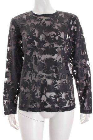 COS Shirt schwarz abstraktes Muster Transparenz-Optik