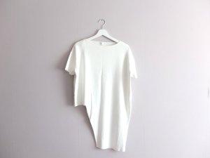 COS Shirt T-Shirt Gr. M 38 40 weiß asymmetrisch
