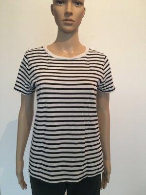 Cos Shirt tshirt Ringel streifen top dunkelblau  Oberteil s small Navy hellgrau gestreift Basic musthave zeitlos