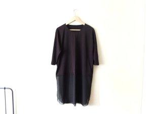 COS Shirt Tunika Gr. M 40 schwarz transparent gebraucht Tragespuren