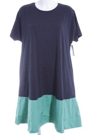COS Shirtkleid dunkelblau-grün Colourblocking Casual-Look