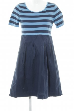 COS Robe t-shirt bleu foncé-bleu clair rayures horizontales style décontracté