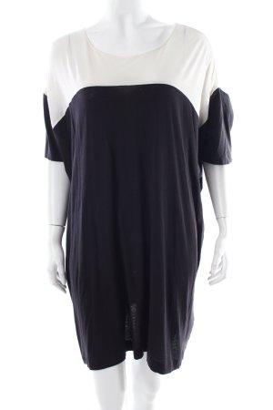 Cos Shirtkleid schwarz-creme Colourblocking Casual-Look