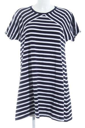 COS Shirtkleid weiß-dunkelblau Ringelmuster Casual-Look