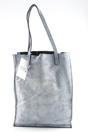 COS Shopper graublau-schwarz meliert schlichter Stil