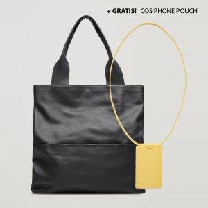 COS Shopper, Tote, Tasche aus Leder + GRATIS! COS Phone Pouch