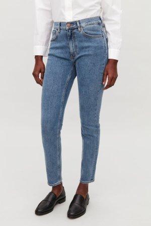 COS Skinny Jeans himmelblau-weiß Jeans-Optik