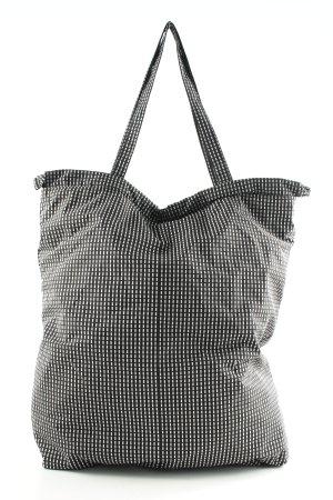 COS Canvas Bag black-white allover print casual look