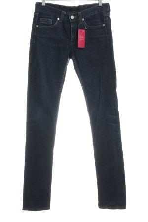 COS Straight Leg Jeans dark blue flecked casual look