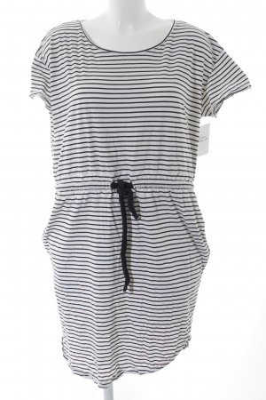 COS Beach Dress black-white striped pattern casual look