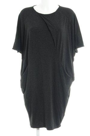 COS Vestido elástico gris antracita moteado look casual