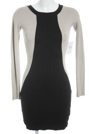 COS Vestido elástico negro-beige elegante