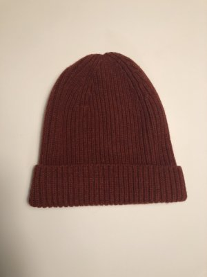 COS Knitted Hat bordeaux-brown red