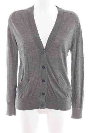 COS Knitted Cardigan light grey flecked casual look