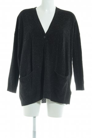 COS Knitted Cardigan black-natural white flecked casual look