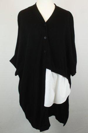 COS Strickjacke Cardigan Gr. XS schwarz mit Bluseneinsatz oversized