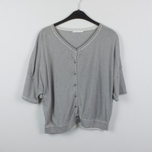 COS Short Sleeve Knitted Jacket grey-white mixture fibre