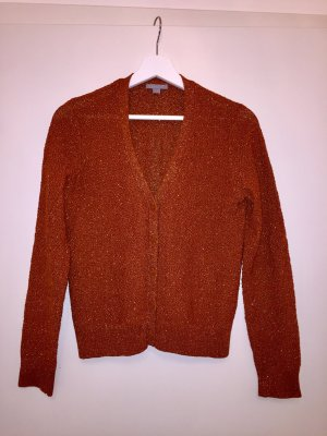 COS Strickjacke orange rost braun Gr. S
