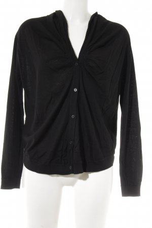 COS Strickjacke schwarz Casual-Look