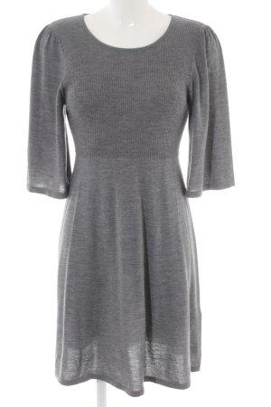 COS Gebreide jurk lichtgrijs gestippeld casual uitstraling