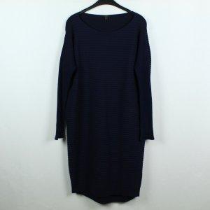 COS Wollen jurk zwart-donkerblauw Wol