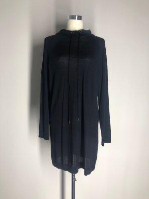 COS Strickkleid mit Kapuze, dunkelblau