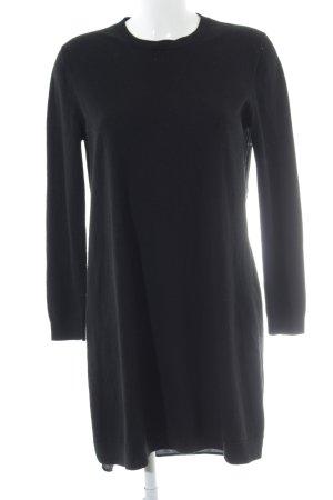 COS Gebreide jurk zwart casual uitstraling