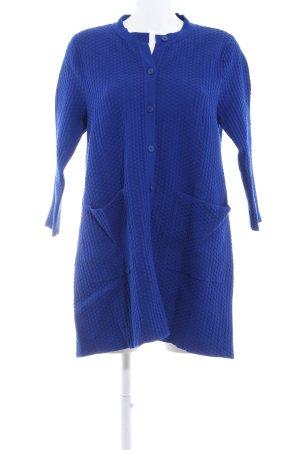 COS Strickmantel blau-stahlblau Punktemuster Casual-Look